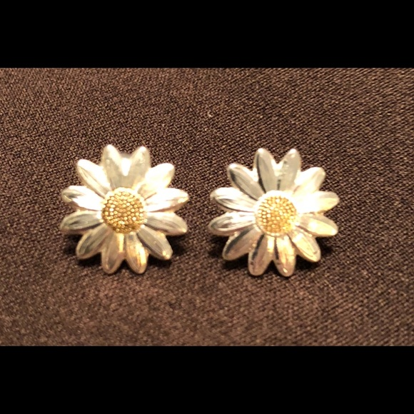 earrings gold mine daisy with stud sterling silver centre prd products classic